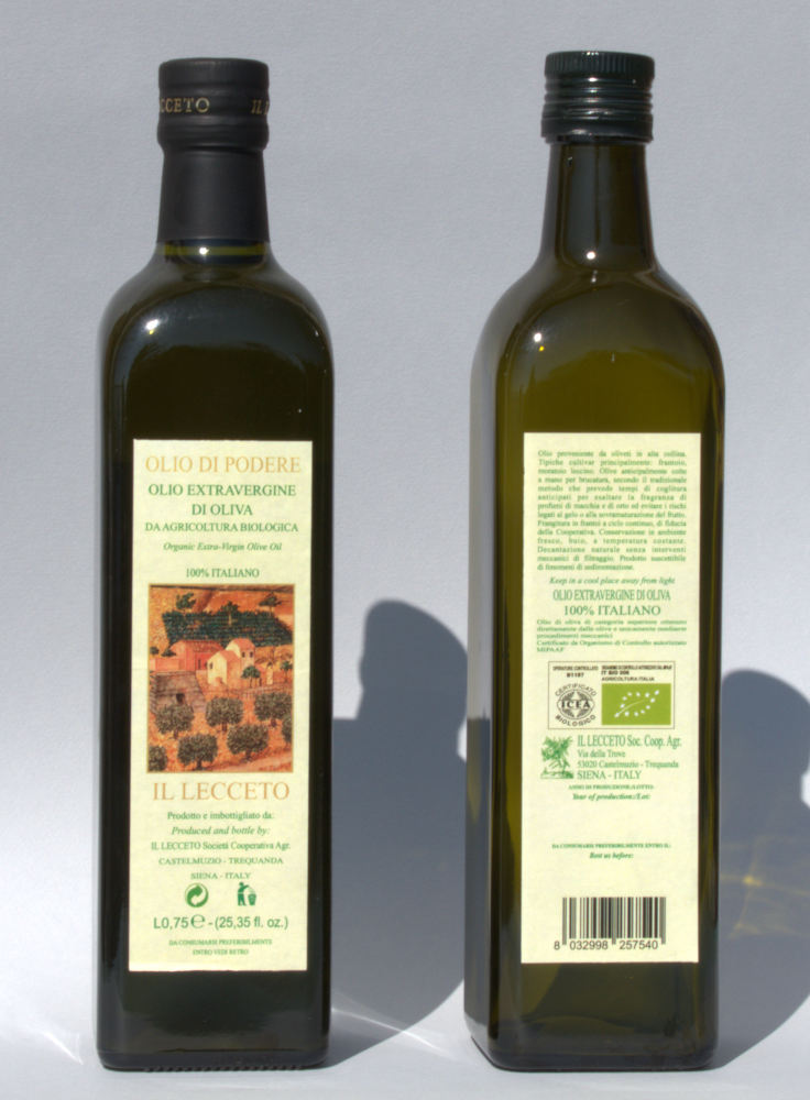 Italian Organic extra virgin olive oil Lt0,500 bottle